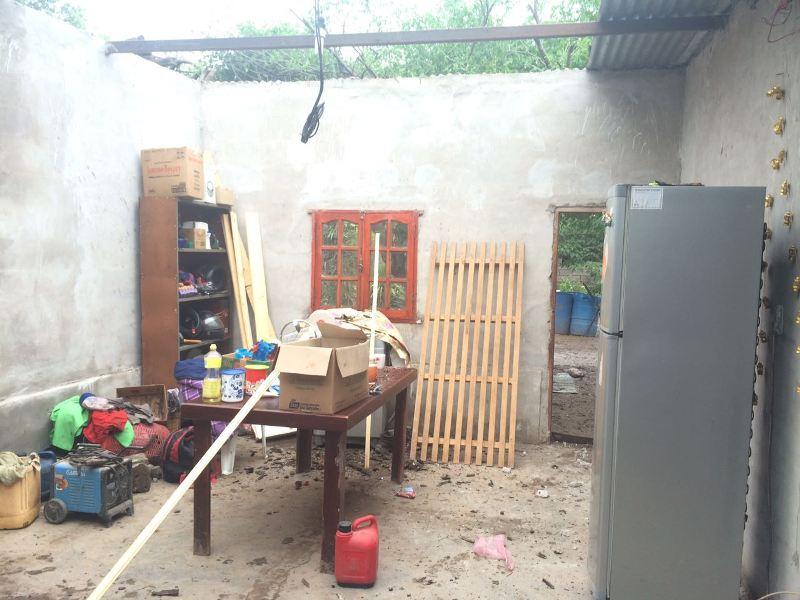 El temporal en Lobaton produjo la voladura de techos en algunas viviendas